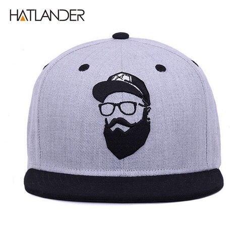 [HATLANDER]Original grey cool hip hop cap men women hats vintage embroidery character baseball caps gorras planas bone snapback Islamabad
