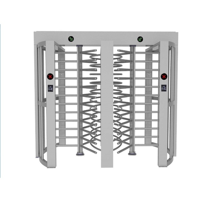 full height automatic security turnstile gate RFID biometric reader and CE certificate/torniquetes acceso