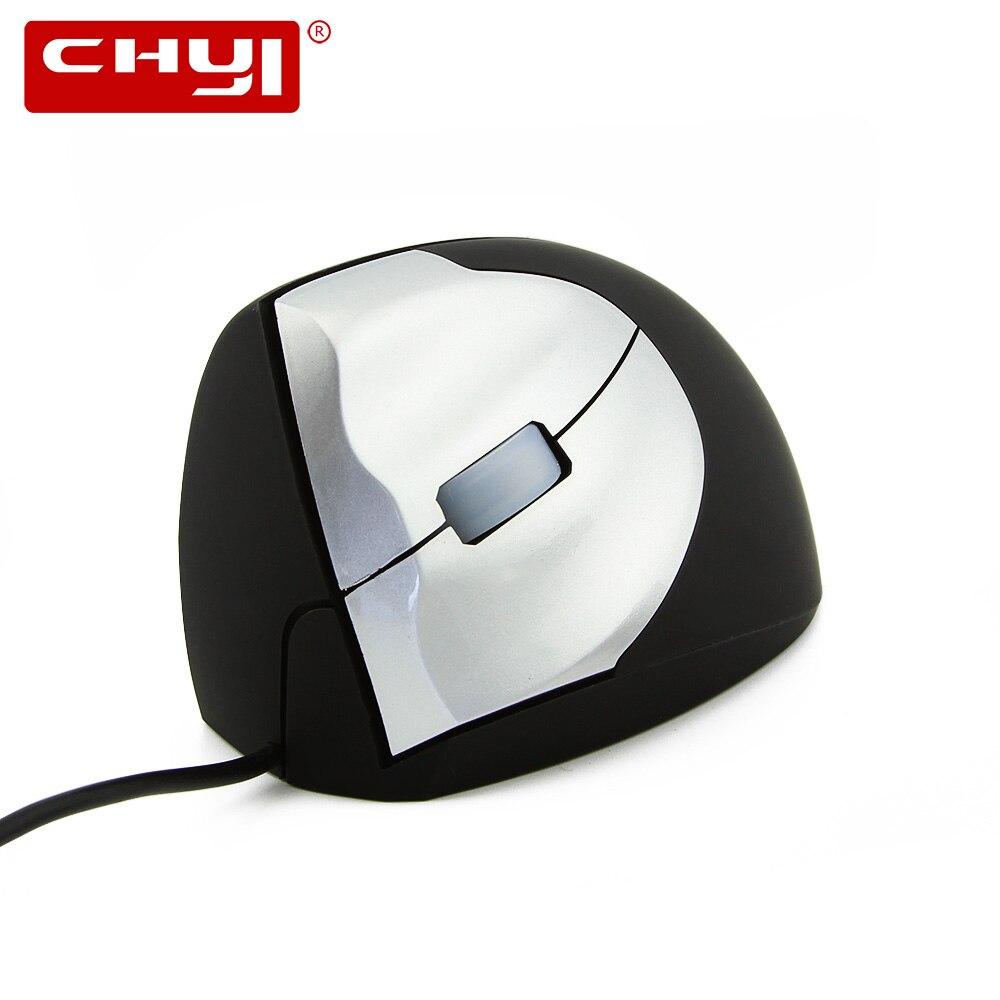 CHYI Sinistra Mano Del Mouse Verticale Ergonomico Sano Ha Fissato il Mouse 1600 dpi USB 3D Optical Gaming Mouse Computer Mause Per Il PC del computer portatile