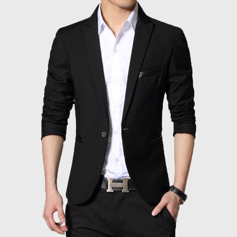 20d577ddcec98d Business E Giacca Alla Suit Moda Genteleman Uomo Fit Slim Casual Primavera  Il Blu Blazer Nero ...