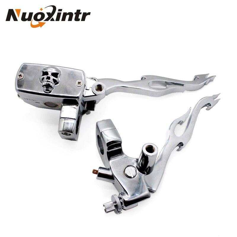 Nuoxintr мотоцикл тормозной клатч главный цилиндр водонагреватель рычаги набор 1 25 мм Универсальный для Honda Suzuki Kawasaki Yamaha