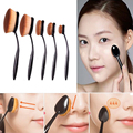 Pro cepillo ovalado crema cosmética fundación Powder Contour Blush maquillaje herramienta M02192