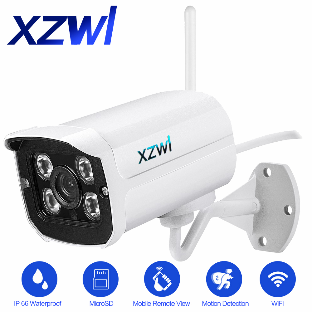 Outdoor Waterproof Wifi IP Camera 1280X720P HD 1.0mp Pixel Wireless P2P 2.0.4 Infrared Night Vision Motion Detection CCTV Camera outdoor waterproof hd bullet 1080p ip camera 2 0mp wifi wireless infrared night vision motion detect cctv webcam freeshipping