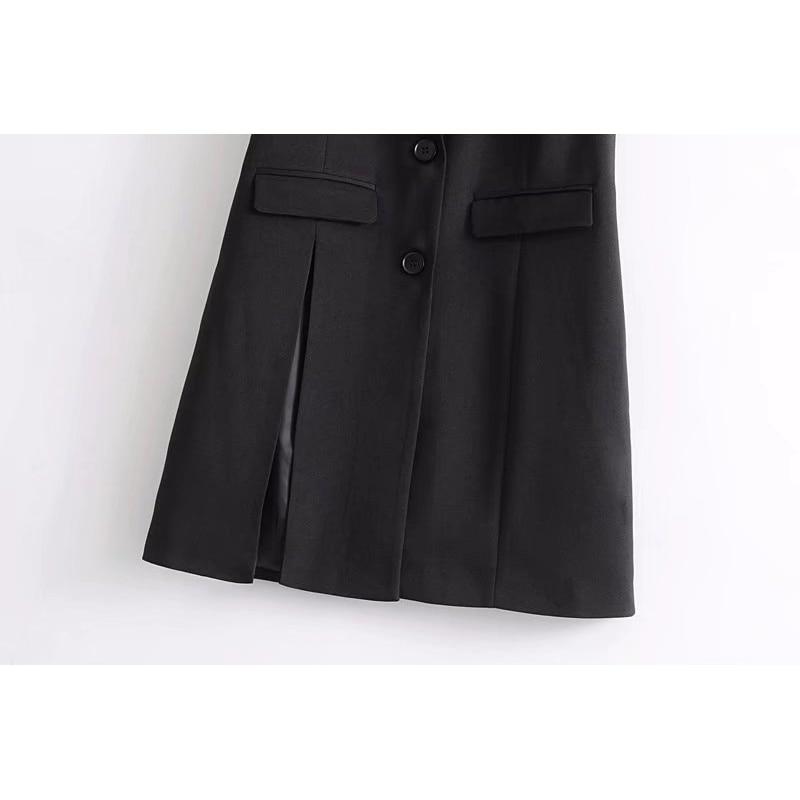 Women Fashion Elegant Office Lady Pocket Coat Sleeveless Vests Jacket Outwear Casual Brand Waist Coat Colete Feminino Dropship