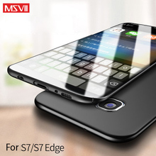 2018Updated 100% MSVII luxury Case for Samsung galaxy S7 (5.1'') and for S7 edge (5.5'') hard PC simple and frosted Back cover