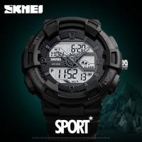 SKMEI New Fashion Men S Dual Display Watch Outdoor Quartz Sports Wristwatches Casual Multifunction 50M Waterproof