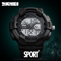SKMEI New Fashion Men S Dual Display Watch Outdoor Quartz Sports Wristwatches Casual Multifunction 50M Waterproof