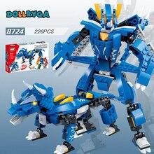DOLLRYGA 226pcs  DIY Robot Deformation Figures Building Blocks knutselen kinderen Toy for Children Block jouet enfant