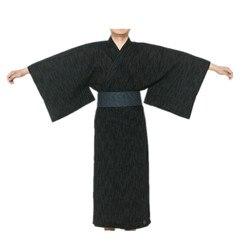 2017 do Sexo Masculino Legal Tradicional Quimono Japonês Yukata Robe de Algodão dos homens dos homens de Quimono Roupão de Banho Pijamas com Cinto 62503