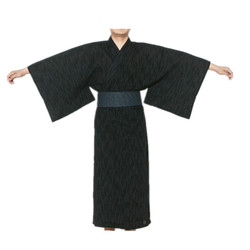 2017 hombre fresco tradicional japonés Kimono traje de algodón para hombre Yukata traje de baño Kimono ropa de dormir con cinturón 62503