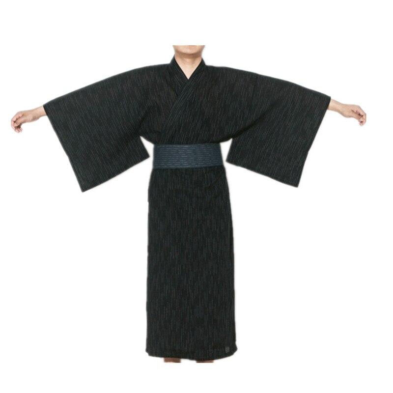 2017 männlich Kühlen Traditionellen Japanischen Kimono männer Baumwolle Robe Yukata männer Bademantel Kimono Nachtwäsche mit Gürtel 62503
