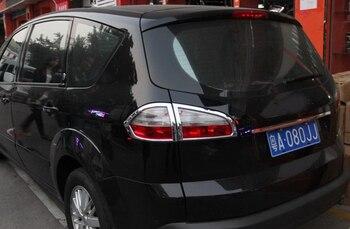 Couvercle de feu arrière en Chrome abs pour Ford S-MAX SMAX 2007 2008 2009 2010-2012