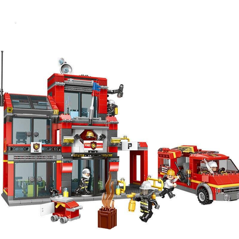 Bloc de construction en plastique d'avion de contrôle d'incendie de ville jouets sixième unité de contrôle d'incendie XB14006