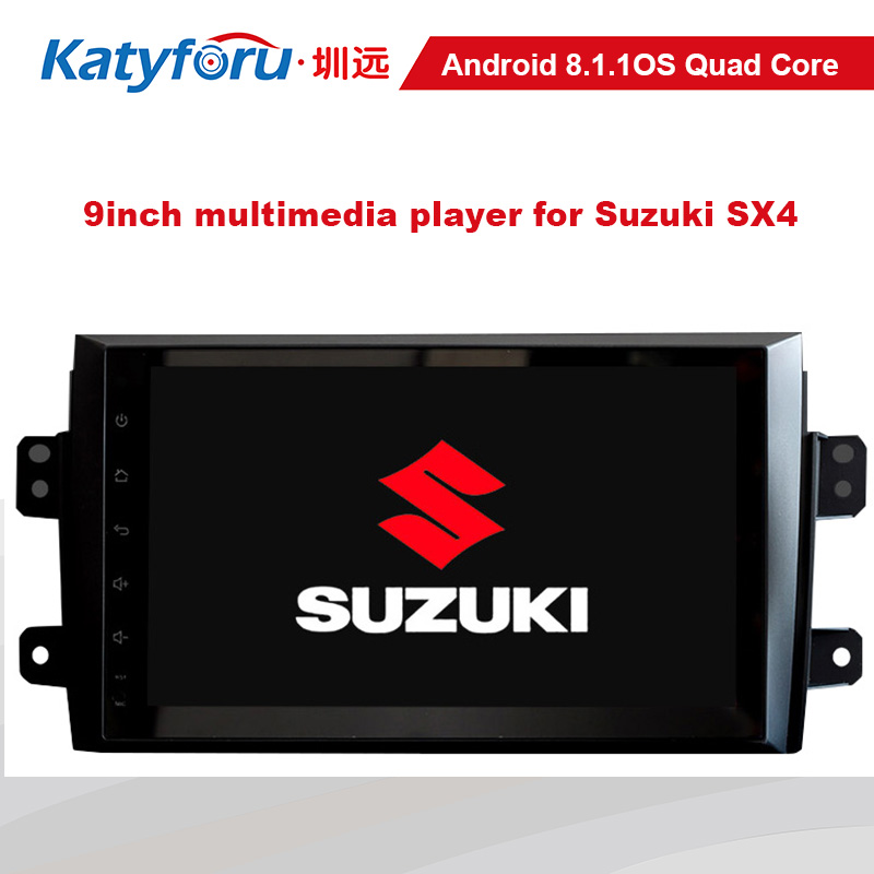 9inch android car <font><b>multimedia</b></font> for <font><b>suzuki</b></font> <font><b>sx4</b></font> with 32g memory 4G WIFI capacitive sceen 1024x600 rear camera input image