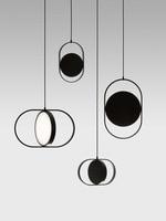 Nordic Minimalism Pendant Light Designer Creative Aluminum Lighting White Black Cafe Clothing Store Drum Art Lamp LED