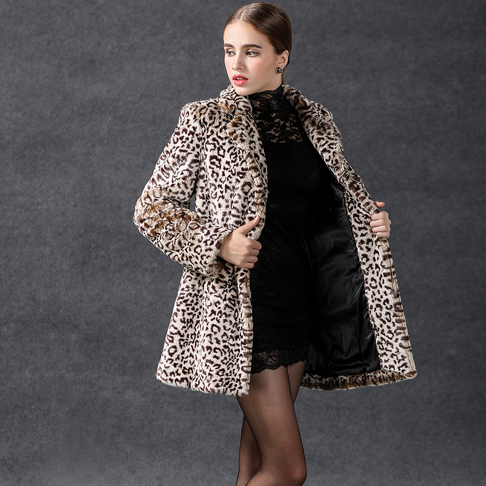 Fashion Brand 15cwc11 Women 39 S Clothing Leopard Print Outer