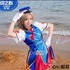 Japanese Anime Lovelive Sunshine Aqours Happy Party Train Watanabe You Cosplay Costume Beautiful Girl Dress