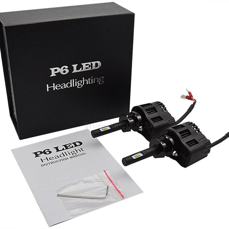 2PCS NEW P6 25W H1 LED Car Headlight Replace 3000K/4000K/5000K6000K Automotive Headlamp No Need Ballast H4/H7/H8/H9/H10 H1