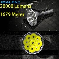 Заранее продажи Новый IMALENT R90C 9 * CREE XHP35 HI светодиодный фонарик 20000 люмен 1679 м фонарик (PK DX80)