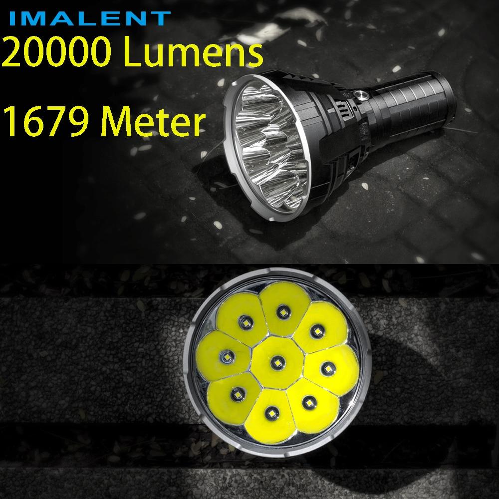цена advance selling NEW IMALENT R90C 9* CREE XHP35 HI LED Flashlight 20000 Lumens 1679 Meters Torch Flashlight (PK DX80)