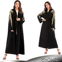 Abaya Dubai Kaftan Islam Turkey Embroidery Cardigan Muslim Hijab Dress Robe  Qatar Caftan Abayas Women Turkish Islamic Clothing