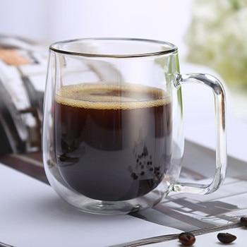 Double Walled Clear Coffee Mug 1