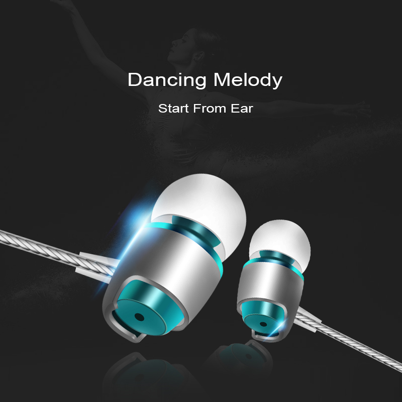 M&J M16 nejlepší zvuk kovový telefon sluchátko s mikrofonem HD HiFi v uchu monitor basový stereo sluchátko pro iPhone Samsung MP3  t