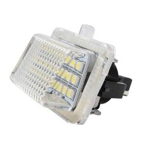 Image 2 - ل بنز GLK X204 GLK350 6000 K زوج 24 ترخيص لوحة ضوء تعديل مع الأصلي موقف ضوء لوحة ترخيص مُضاء الجمعية