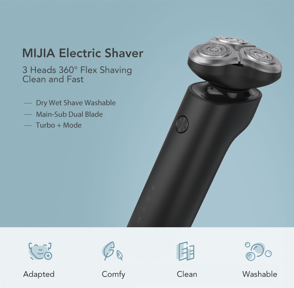 360 graus float shaving xiami barbeador elétrico