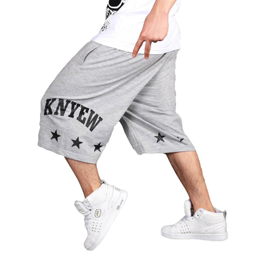 Summer Cotton   Shorts   Men Plus Size Hip Hop Casual Mens Long   Shorts   Harajuku Baggy Sweatpants Bermuda Masculina Men   Short   Pants