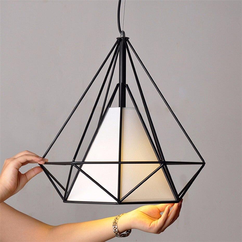 Weiß schwarz pyramide art deco lampe anhänger lampen licht ...