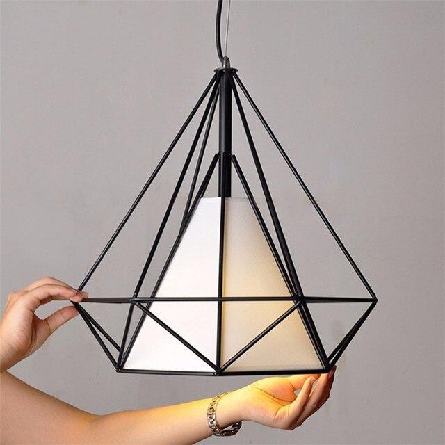 US $59.99 |Weiß schwarz pyramide art deco lampe anhänger lampen licht  abdeckungen loft leuchten in Weiß schwarz pyramide art deco lampe anhänger  ...
