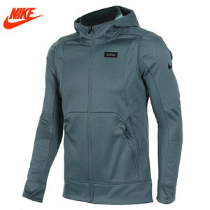 40cd4d78e1 Nike Hooded Coat Green gray Authentic sport knit Breathable jacket