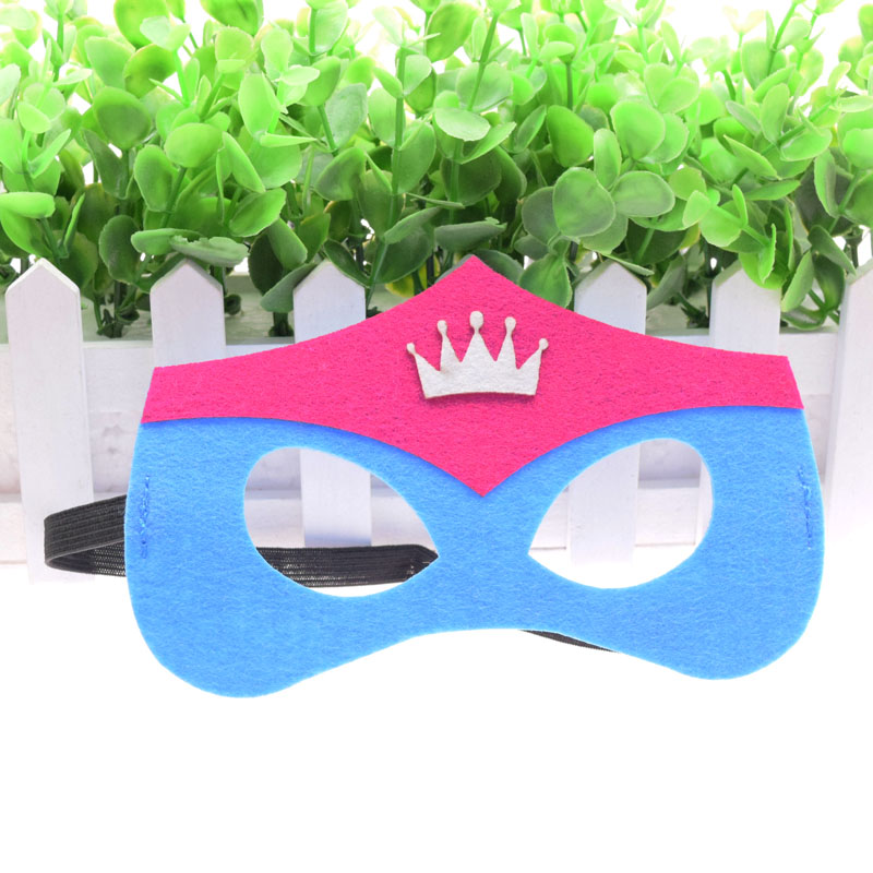 Mask Crown Super Hero Princess Queen Kids Boy Girl Costume Star Wars Xmas Avengers DIY Masquerade Eye Cosplay