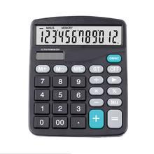 Новый черный 12 значный большой экран калькулятор модный компьютерный