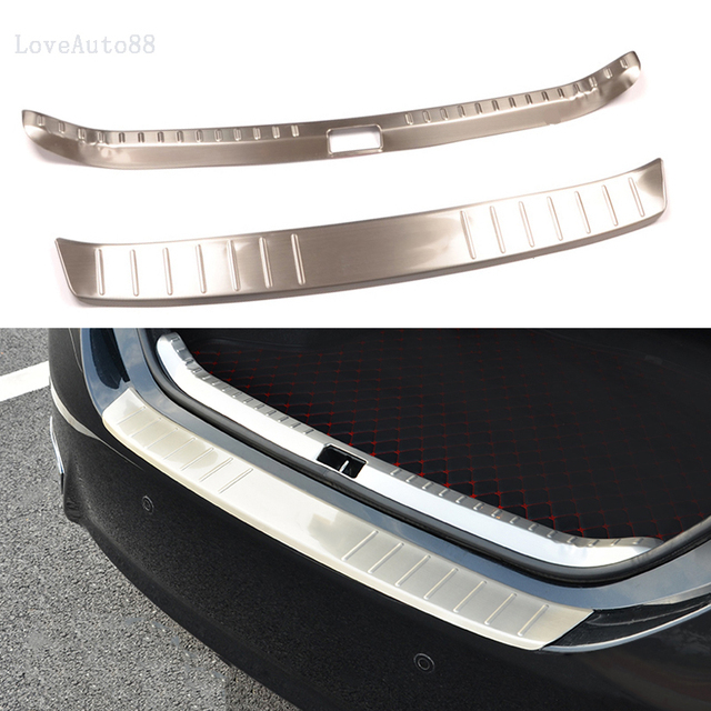 Car Exterior Interior Rearguards Rear bumper Trunk Trim Bumper Pedal Stainless Steel For Toyota Corolla 2014 2015 2016 2017 2018