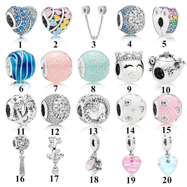 2018 Spring Collection Magic Nature Charm Beads Fits  Bracelet 925 Sterling Silver Buckle safety chain Beads DIY Jewelry.