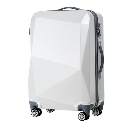 """New 20""""24 inches Diamond cut surface 3D extrusion Travel luggage suitcase creative Boarding box"""