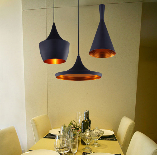 3pcs pack black new abc tall fat and wide design by tom dixon copper shade musical pendant lamp. Black Bedroom Furniture Sets. Home Design Ideas