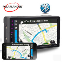 Touch Screen Hand Free MP5 Player Car Stereo 2DIN Radio Bluetooth Support Rearview Camera 9Languages Mirror Link For Android