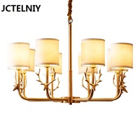 American style copper pendant light staghorns copper pendant light simple european pure copper lamps