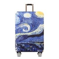 Starry Sky Travel Luggage Cover Van Gogh Elastic Trolley Suitcase Waterproof Student Kid Protect Dust Case