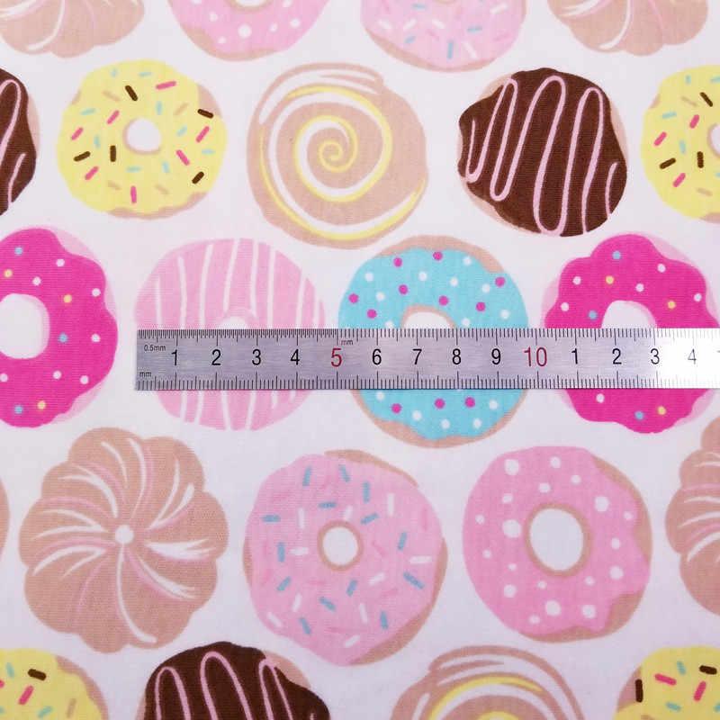 뜨거운 판매 절반 미터 도넛 아기 면화 니트 저지 원단 diy 의류, bibs, 코팅, 침대 시트 면화 천