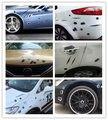 Стайлинга автомобилей 3D Поддельные Пулевое Отверстие Выстрелов Funny Car Шлем Наклейки Наклейки Эмблема Символ Творческий персонализированные Наклейки