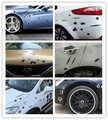 Estilo do carro 3D Falso Buraco de Bala Arma Tiros Capacete Adesivos de Carro Engraçado Decalques Emblema Símbolo Criativo personalizado Adesivos