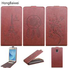 for EU Version Samsung Galaxy J7 2017 Case Fashion Embossed Flip Leather Cover Case for Samsung Galaxy J7 Pro J730