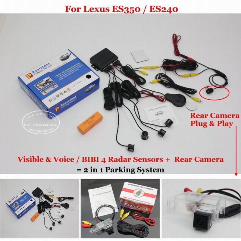 ФОТО For Lexus ES350 ES240 ES 350 240 2006~2012 - Car Parking Sensors + Rear View Camera = 2 in 1 Visual / BIBI Alarm Parking System
