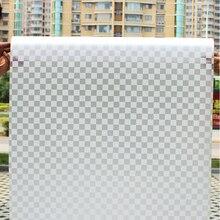60X200cm White Lattice Window Paper Opaque Frosted Glass Study Bathroom Decoration Matte Light-shielding glass film raamfolie