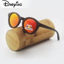 New Bamboo Polarized Sunglasses Men Wooden Sun glasses Women Brand Designer Original Wood Glasses free shipping LUB132