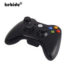 Kebidu Premium Kwaliteit Fijne Zwarte 2.4Ghz Draadloze Gamepad Joypad Controller Game Joystick Pad Voor Xbox 360 Game